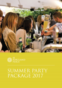 Summer Party Package 2016